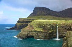 Gásadalur Waterfall, Faroe Islands