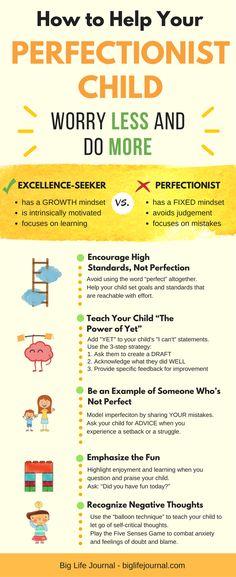 5 Effective Ways to Help Your Perfectionist Child – Big Life Journal #ParentingTips