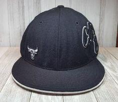 9d3b3ba04 Chicago Bulls Fitted Hat Cap 7 5/8 Adidas Nba Black Wool #adidas  #ChicagoBulls