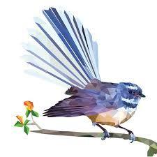 Fantail Art Print by Yhodesign NZ Art Prints, Art Framing Design Prints, Posters & NZ Design Gifts Bird Sketch, Bird Free, New Zealand Art, Nz Art, Kiwiana, Native Art, Cool Artwork, Art Inspo, Folk Art