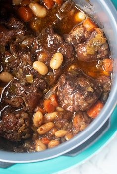 This Jamaican Oxtail recipe is the perfect Caribbean stew for dinner. Delicious and tender oxtail and butter beans that is cooked to perfection. Make it in the Instant Pot or any electric Pressure Cooker. Slow cooker instructions also included. Oxtail Recipes Crockpot, Crockpot Recipes, Cooking Recipes, Chicken Recipes, Carribean Food, Caribbean Recipes, Jamaican Oxtail Stew, Oxtail Meat, Jamican Recipes