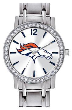 Women's Game Time Watches 'NFL All Star - Denver Broncos' Crystal Bezel Bracelet Watch