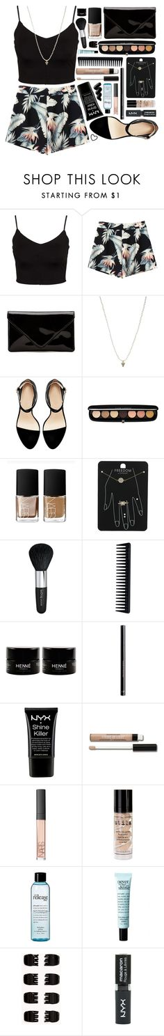 """""""Outfit 199"""" by holass ❤ liked on Polyvore featuring Glamorous, ASOS, Marc Jacobs, NARS Cosmetics, Topshop, Isadora, GHD, H&M, NYX and Bare Escentuals"""
