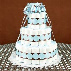 How to make a diaper cake! Best tutorial!