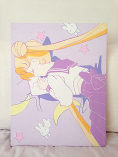 sailor moon acrylic on canvas by Yu | via tumblr  http://dearninety.bigcartel.com/product/sleeping-sailor-moon