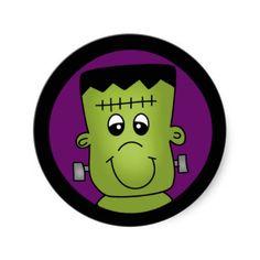 Halloween Frankie Sticker