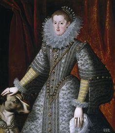 Музей Прадо: Гонсалес и Серрано, Бартоломе -- Маргарита Австрийская, королева Испании 609, 116 см x 100 см, холст, масло. Бартоломе Гонсалес и Серрано (1564 Вальядолид - 1627 Мадрид)