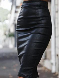 Fashion Pure Colour PU Buttocks Skirt – streetstyletrends   styles skirts skirt and top outfits skirt shoes winter skirt outfits #outfitwithskirt#winterskirtoutfits#skirtshoes#skirtandtopoutfits#stylesskirts