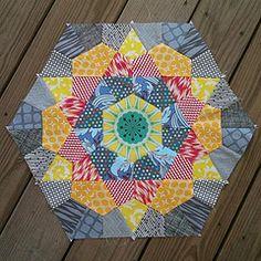 Rose Star Quilt block 1