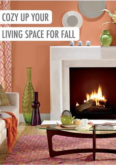 Orange Painted Room Design Inspiration And Project Idea Gallery Behr