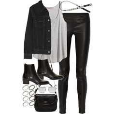 Sin título #4481 by marym96 on Polyvore featuring H&M, J Brand, Helmut Lang, Yves Saint Laurent, Kate Spade, ASOS and Prada