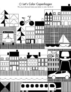 Free printable Copenhagen Coloring Page. #allgoodthings #danish spotted by @missdesignsays