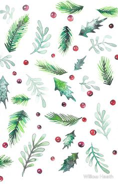 Winter Holiday Botanical Watercolor Winter Holiday Botanical W… – wallpaper winter Wallpaper Winter, Christmas Phone Wallpaper, Wallpaper Free, Holiday Wallpaper, Wallpaper Backgrounds, Illustration Noel, Illustrations, Christmas Phone Backgrounds, Phone Backgrounds