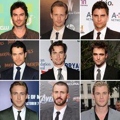 50 Shades of Grey Movie (POSSIBLE) Cast: 1. Matt Bomer, 2. Henry Cavill, 3. Josh Duhamel, 4. Colin Egglesfield, 5. Ian Somerhalder 6. Isabel Lucas, etc..etc...
