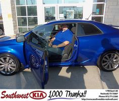Happy Anniversary to Christa Reeves on your 2013 Kia Forte from Gary Guyette Jr and everyone at Southwest KIA Rockwall!