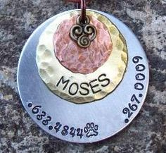 15 Dog Tag Mixed Metals Three Layered discs by FetchAPassionTags, $16.00