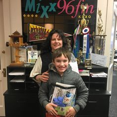 Congratulations to Katherine and her son! Enjoy those cupcakes from Miss Moffet's! #winner #mymixx96