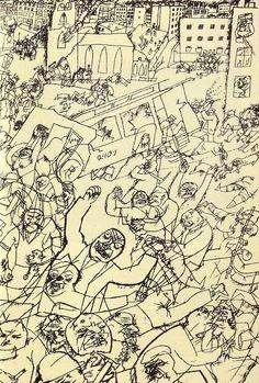 George Grosz (German, 1893-1959), Pandemonium, 1914