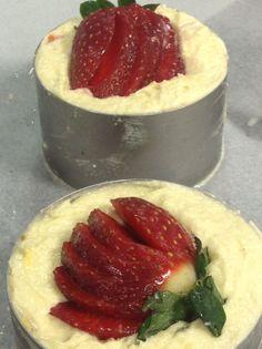 Baking individual strawberry frangipan s....