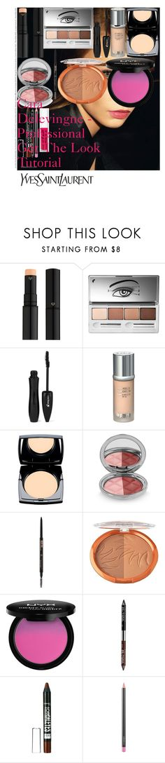 """Cara Delevingne - Professional Get The Look Tutorial"" by oroartye-1 on Polyvore featuring beauty, Yves Saint Laurent, Clé de Peau Beauté, Clinique, Lancôme, La Prairie, By Terry, Anastasia Beverly Hills, Milani and NYX"