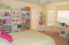 inviting craft room colorful bedroom