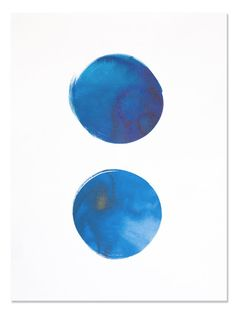 """Indigo Circles Art Print   Sycamore Street Press I love large scale artwork that is simple, bold, beautiful, and affordable. And that combination is surprisingly difficult to find! So I created it myself with these 18x24"""" indigo prints. Enjoy!—Printed locally using sustainable materials.Original illustration hand painted by Eva Jorgensen. 18"""" x 24"""" size, easy to frame. Ships rolled in rigid tube. Made in the USA."""