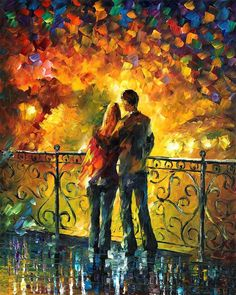 Last Date — PALETTE KNIFE Oil Painting On Canvas By Leonid Afremov