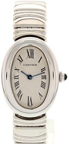 Cartier Baignoire swissquartz white womens Watch 1955 Certified Preowned *** For more information, visit image link.