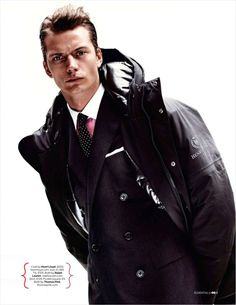 Linus Gustin is Dressed to Impress for British GQ