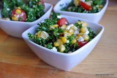 Salad #31 Kale Salad with Grilled or Roasted Corn