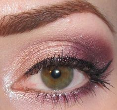 Glitter is my crack...: Peach, pink and Burgundy makeup look + Glitter Liner with Morgana Cryptoria