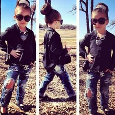 baby girl fashion @Shani kennadi would look so cute in ripped jeans like this!!:)