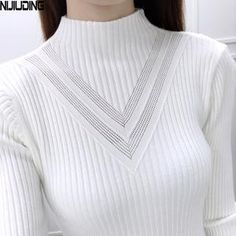 28bbd98d44 Lisipieces- turtleneck long-sleeve knitted sweater f New Fashion
