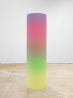karmakarmanyc:  Rob Pruitt Gradient Cylinder 2013 Acrylic and enamel on wood 48…