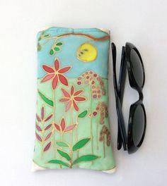 Sunglasses, glasses case, original design on silk £20.00