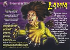 lamia | lamia monsters of the mind card 97 front added by lady39jane