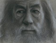 Gandalf Charcoal Drawing by JW-Jeong.deviantart.com