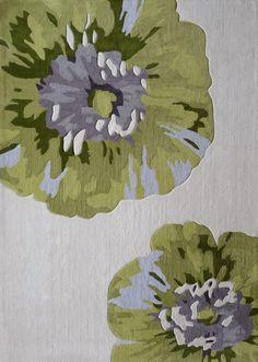 Hand tufted floral green rug http://www.houzz.com/ideabooks/50731635/list/shop-houzz-create-a-welcoming-foyer/?utm_source=feedburner&utm_medium=feed&utm_campaign=Feed%3A+houzz+%28Houzz%29