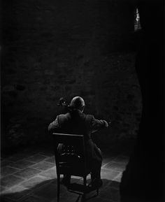 Yousuf Karsh: Pablo Casals, 1954  In the Abbey de Cuxa in Prades, I spent several glorious hours with the master of the cello.