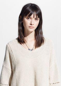 Pullover mit fransen - Damen | MANGO