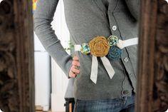 DIY belt. Cute!