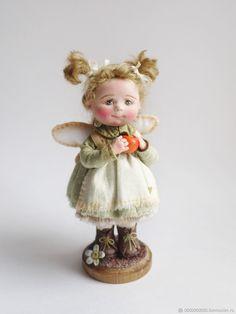 Тася - купить или заказать в интернет-магазине на Ярмарке Мастеров   Малышка полностью слеплена из полимерной глины,…