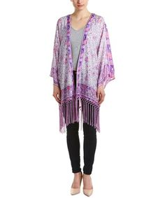 Barth Prudence Silk Jacket In Purple Calypso St Barth, Silk Jacket, Kimono Top, Cover Up, Purple, Jackets, Clothes, Collection, Shopping