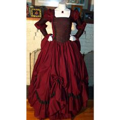 Dracula Gothic Renaissance Pirate Gown Dress costume Vampire Womens ($225) ❤ liked on Polyvore