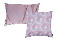Crease-Free pillow & Graphex pillow. Roze combinaties.