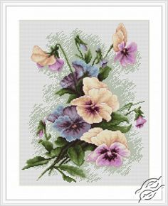 Pansies - Cross Stitch Kits by Luca-S - B2231