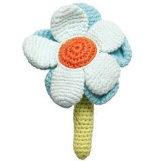 Cute crocheted flower rattle