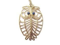 Vintage owl necklace napier owl pendant and chain by VintageGirLNY, $45.00