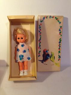 Vintage Blond German Doll 1980's? 1970's Boxed with Clothes plastic vinyl? Lipu 8.99+2.6