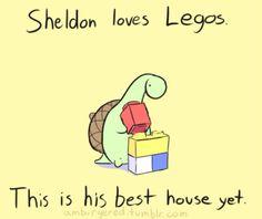 Sheldon the Tiny Dinosaur who Thinks he's a Turtle, , panaran: Minifigs don't seem very mini to him. Sarah Andersen, Cute Comics, Funny Comics, Pusheen, Turtle Dinosaur, Sheldon The Tiny Dinosaur, Dinosaur Funny, Book Art, Tiny Turtle